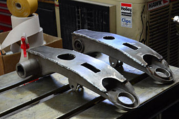 Boxed lower control arms